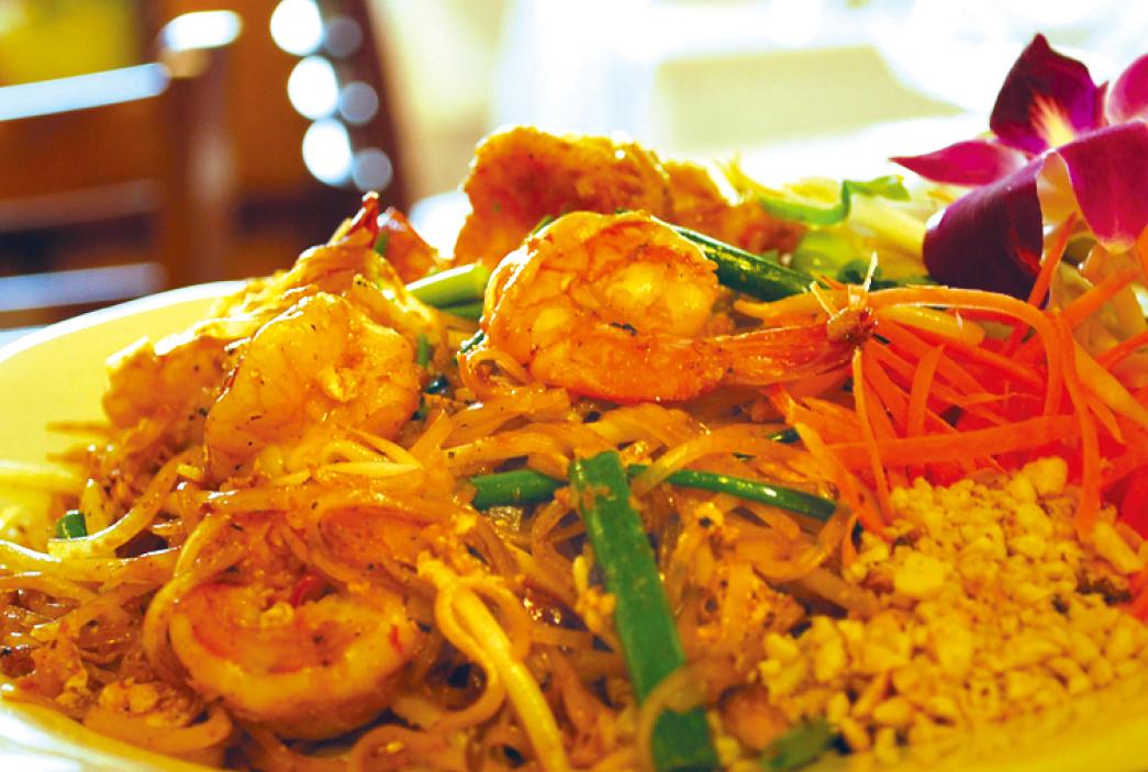 タイ料理の鉄板、「パッタイ」