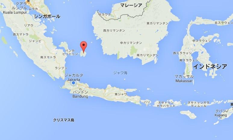 ジャカルタの北に位置するブリトゥン島