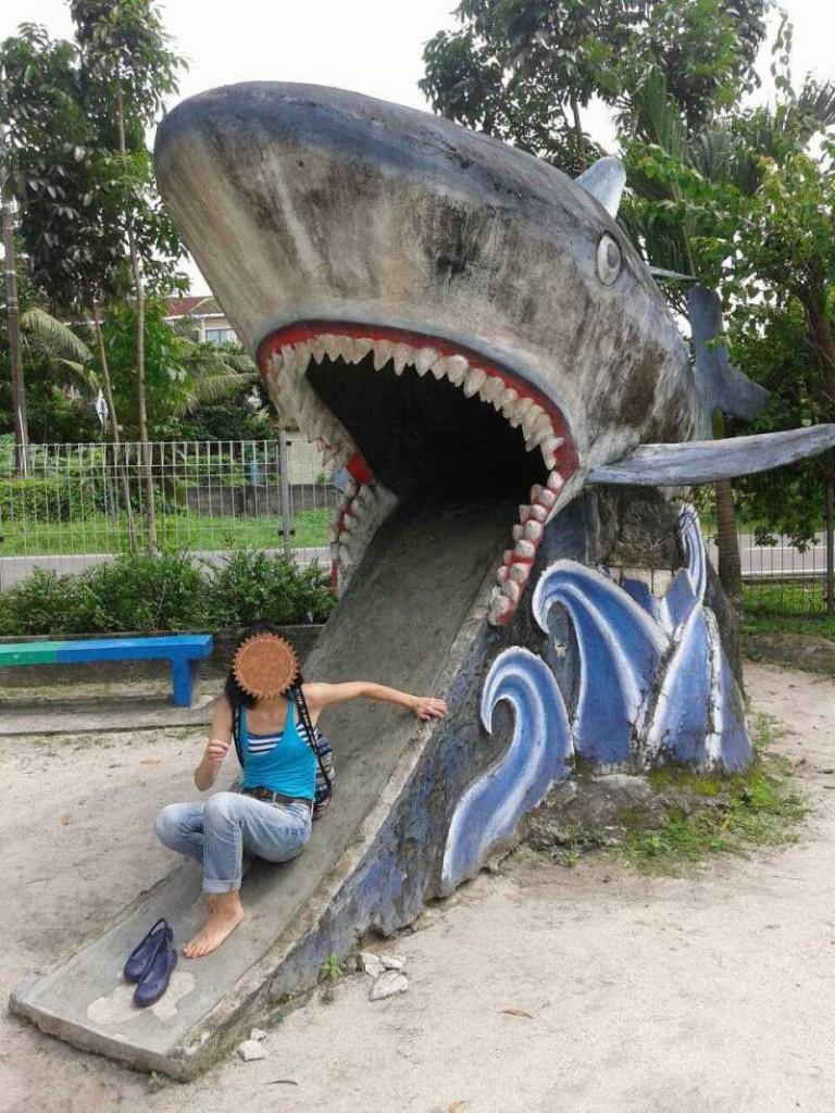 サメの滑り台